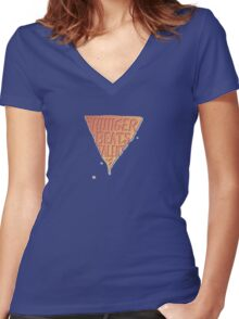 Hunger Beats Talent - Orangutan Orange  Women's Fitted V-Neck T-Shirt