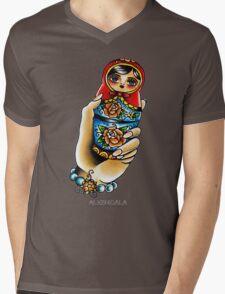 Hand Holding Matryoshka  Mens V-Neck T-Shirt
