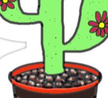 Comic Cactus Sticker