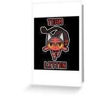 Team Litten Greeting Card