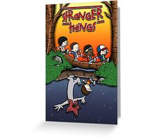 Calvin and Hobbes in the Upside Down Greeting Card