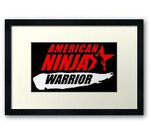 ninja warrior Framed Print
