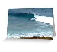 Surfing at Lennox Head Greeting Card