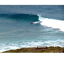 Surfing at Lennox Head Photographic Print