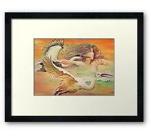 """""""Dancing with Birds"""" Framed Print"""