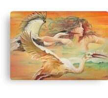 """Dancing with Birds"" Canvas Print"