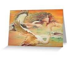 """Dancing with Birds"" Greeting Card"