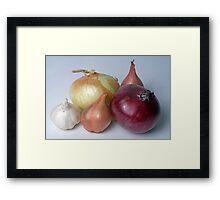 A Family Allium Framed Print