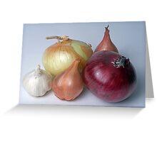A Family Allium Greeting Card