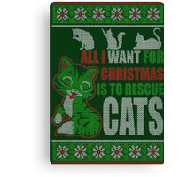 Rescue Cats - Christmas Canvas Print