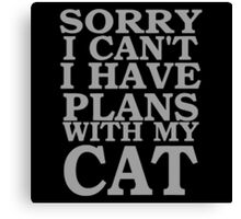sorry i cant i have plants with my cat Canvas Print