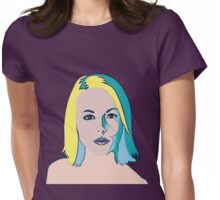 Blonde Mystery Girl Womens Fitted T-Shirt