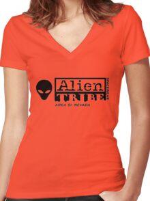 Alien Tribe Spacewear Logo Women's Fitted V-Neck T-Shirt