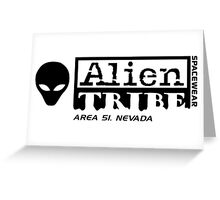 Alien Tribe Spacewear Logo Greeting Card
