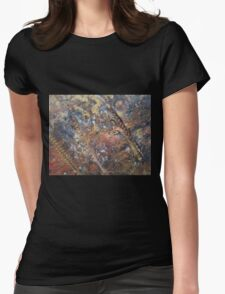 Three Feathers 'Rain Painting' Womens Fitted T-Shirt
