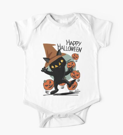 Cat Halloween One Piece - Short Sleeve