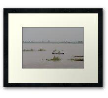 Fog on the Irrawaddy 2 Framed Print