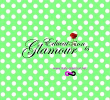 Education is Glamour - green pois by italy-glamour