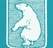 1905 Greenland Polar Bear Pakke-Porto Stamp Sticker