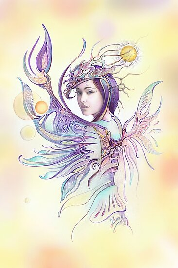 """""""THE CANCER""""  - Protective Angel for Zodiac Sign by Anna Miarczynska"""