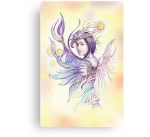 """""""THE CANCER""""  - Protective Angel for Zodiac Sign Canvas Print"""