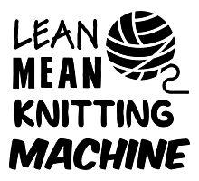 Lean mean knitting machine Photographic Print