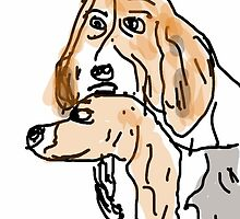 Basset Hounds by Stacey Lazarus