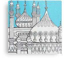 Blue Domes Metal Print