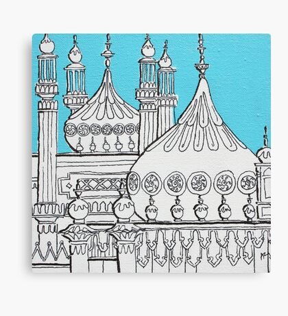 Blue Domes Canvas Print