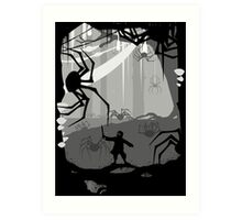 The Little Limbbit and the Spiders Art Print
