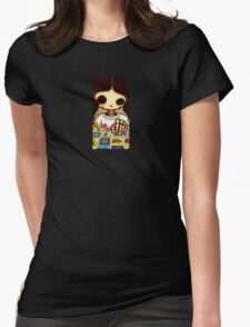 Day of The Dead Skeleton Girl Womens Fitted T-Shirt