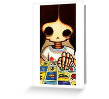 Day of The Dead Skeleton Girl Greeting Card