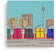 Hove Beach Huts Canvas Print