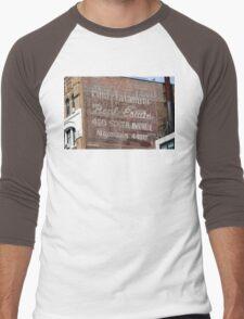 New York City:  Real Estate Ghost Sign Men's Baseball ¾ T-Shirt