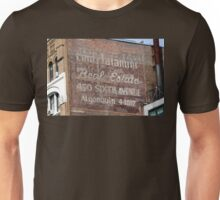 New York City:  Real Estate Ghost Sign Unisex T-Shirt