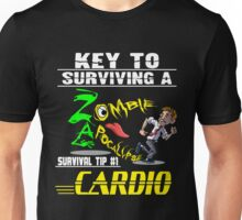 Funny Zombie Cardio Survival Tip Halloween T-shirt Unisex T-Shirt