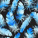 - Blue feathers II - by Losenko  Mila