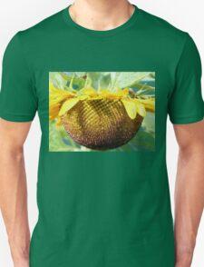 Honey bee on Sunflower Unisex T-Shirt