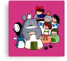 funny ghibli full colour Canvas Print