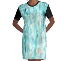 Abstract beach Graphic T-Shirt Dress