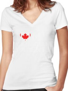 I Love My Canadian Parents Women's Fitted V-Neck T-Shirt