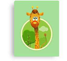 Jimmy the Giraffe Canvas Print