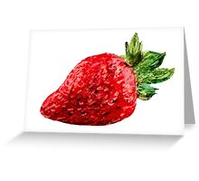 Oil Pastel Strawberry Greeting Card