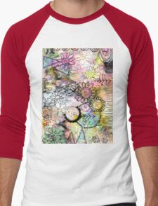 Whimsical Garden Men's Baseball ¾ T-Shirt