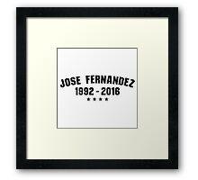 RIP Jose Fernandez Framed Print