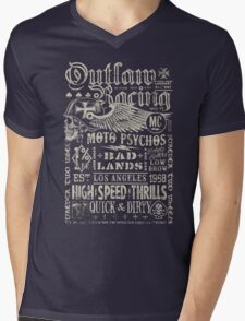 Outlaw Racing Vintage Mens V-Neck T-Shirt