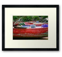 Cat on Boat Framed Print
