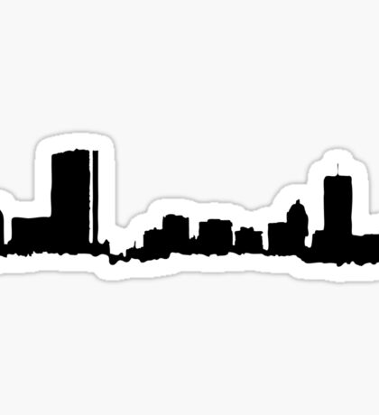 Boston Black Skyline Sticker