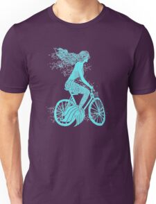 Mermaid on a Bike Cyclle Unisex T-Shirt