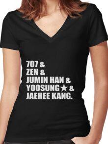 Mystic Messenger Women's Fitted V-Neck T-Shirt